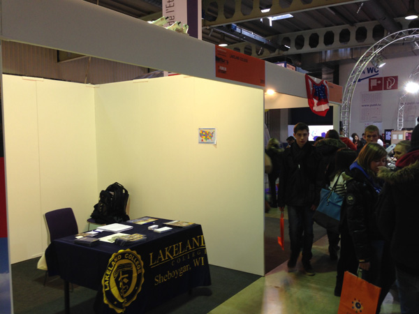 Lakeland College booth