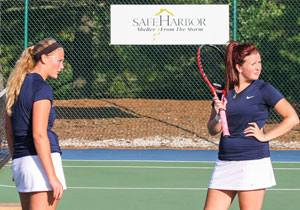 Women's Tennis players raising money for Safe Harbor