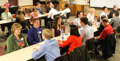 speed networking at Lakeland Business Student week
