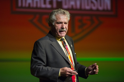 Clyde Fessler talks Harley at Charlotte and Walter Kohler Distinguished Business Lecture