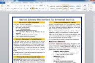 Customized library handout