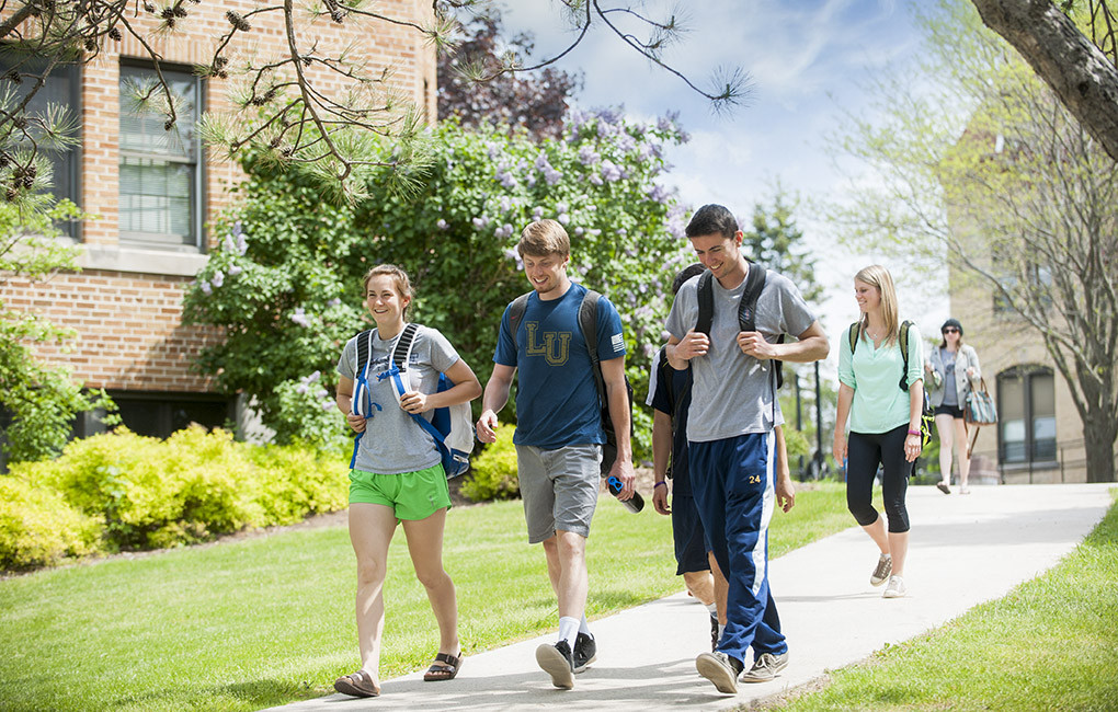 Students enjoying campus.